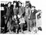 Shipyard workers. Men and women.