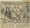 """A COLLECTION of Lunenburg handicrafts..."" - The Chronicle Herald - Tues. Sept. 5 1972"