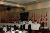 Photo set - Preparations for State Dinner with The Queen and Duke of Edinburg - circa August 14,...