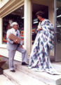 Photo set - Vicki Lynn Bardon and her father, Dr. J.B. Crowe - New Germany store - circa 1975-1976