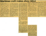 """Maritimes craft makes show debut"" - November, 1973"